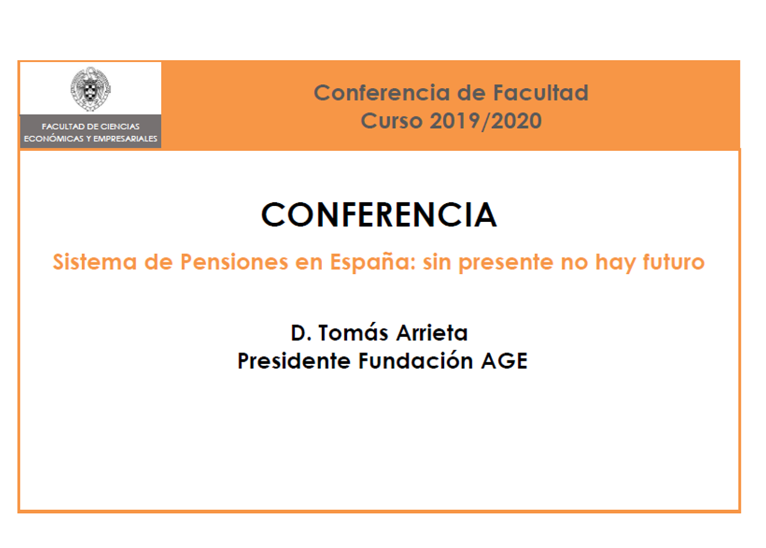 Conferencia de Facultad (on-line), 1 de abril a las 12:30 - 1
