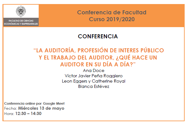 Conferencia de Facultad, 13 de mayo a las 12:30 (video disponible)