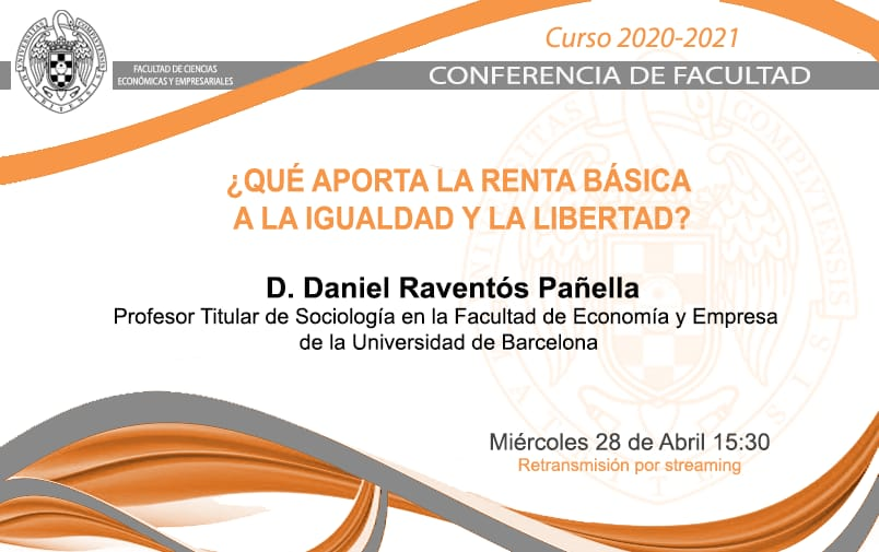 Conferencia de Facultad, 28 de abril, 15:30 horas (streaming)